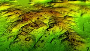 Laser technology known as LiDAR digitally removes the forest canopy to reveal ancient ruins