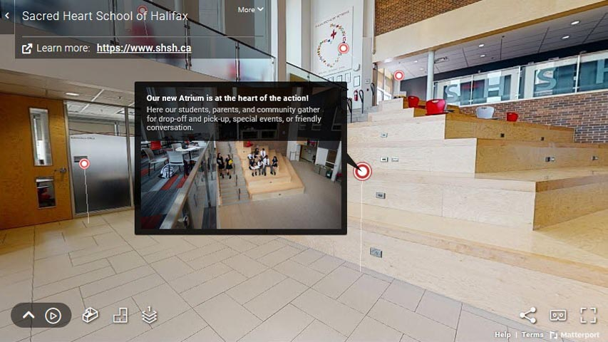 3D Virtual Tour of Sacred Heart School of Halifax.